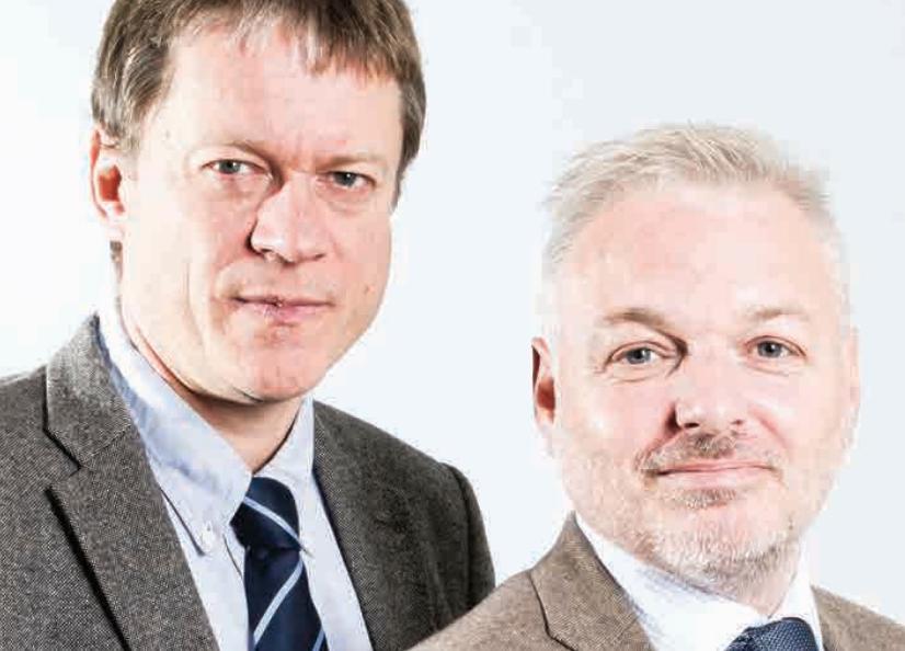 Reidar Nilsen og Ole Bjørn Fausa er barndomsvenner fra Sunnmøre.
