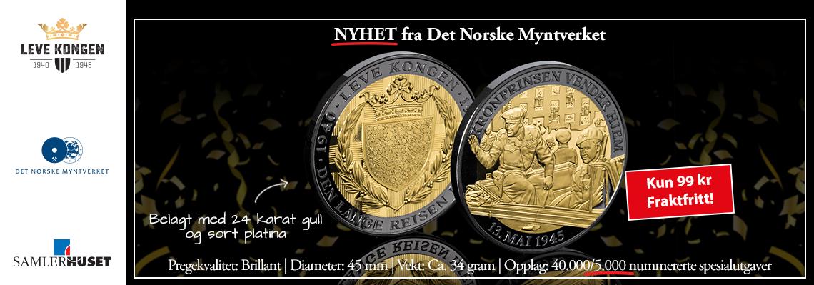 Nyhet fra Det Norske Myntverket: Kronprinsen vender hjem spesialutgave med gull og sort platina