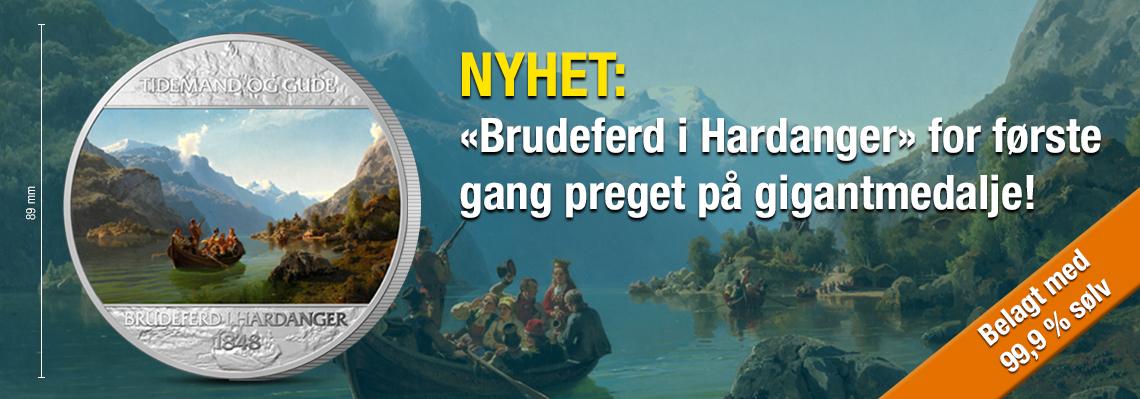 Brudeferden i Hardanger på gigantmedalje!