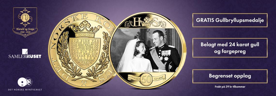 Gullbryllupsmedaljen Kong Harald og Dronning Sonja