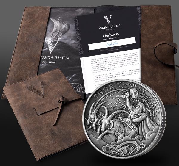 Vikingmynten kommer med eierbevis, ekthetssertifikat og historisk informasjon
