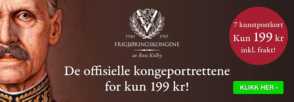 Frigjøringskongene - postkort - Kong Haakon - Kong Olav - Kong Harald