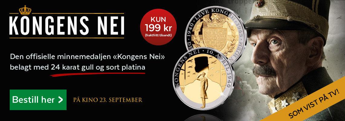 Kongens Nei hedres på offisiell minnemedalje