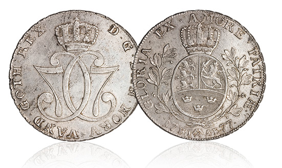 Christian VII 1 speciedaler 1776-1779