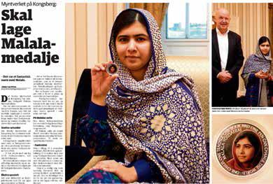 Myntverket skal også lage en Malala-medalje