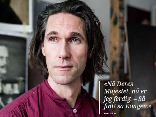 Kunstner Ross Kolby i studio