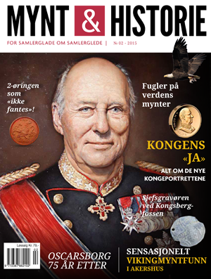 Mynt & Historie 2 2015 med kongeportrettende, sensasjonelt vikingmyntfunn i Akershus og toøren 1968