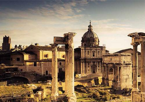 Forum Romanum har mange rester etter Konstantins dynasti