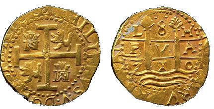 8 escudos 1710