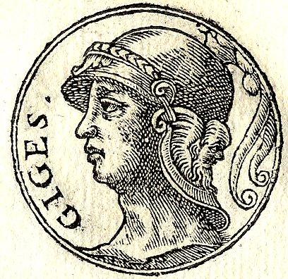 Gyges, Giges på latin, kan ha vært den første som preget mynter