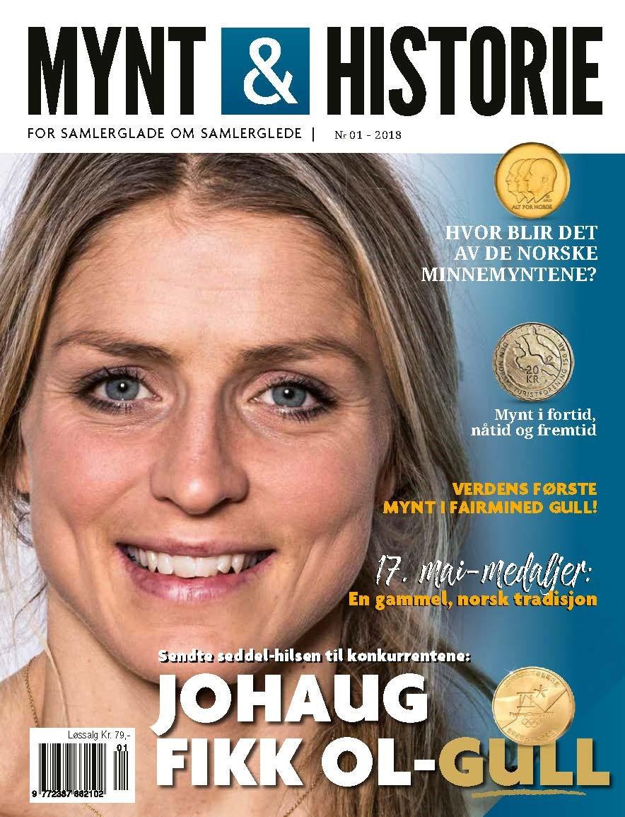 Mynt & Historie 1 2018 med Therese Johaug og OL-seddelen