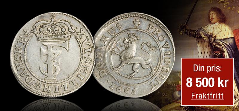 Sjelden sølvmark fra Kong Frederik IIIs dramatiske krig mot Sverige!