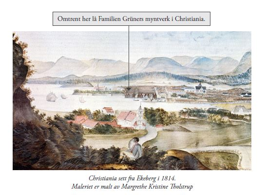 Oslo, da Christiania, fra Ekeberg i 1814.