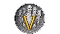 1 kilo minnemedalje belagt med gull