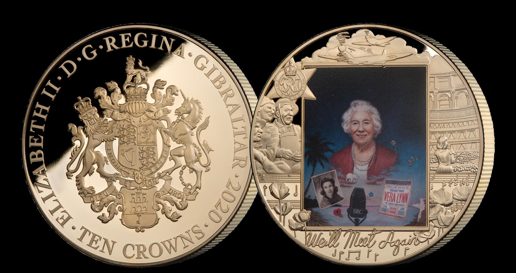 Vera Lynn hedret på minnemynt i gigantformat