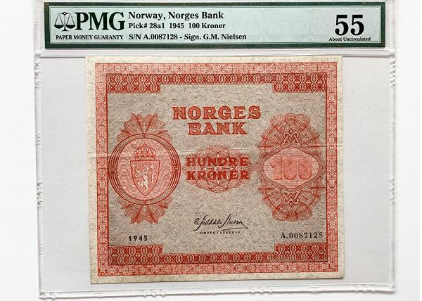 100 kroner 3. utgave 1945