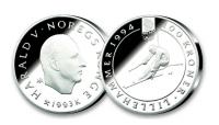 1993 OL Alpinist sølvmynt 200 kr