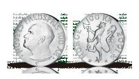 100 kroner Nobels fredspris sølv