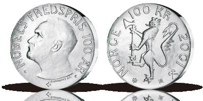 100kr Nobels Fredspris 2001