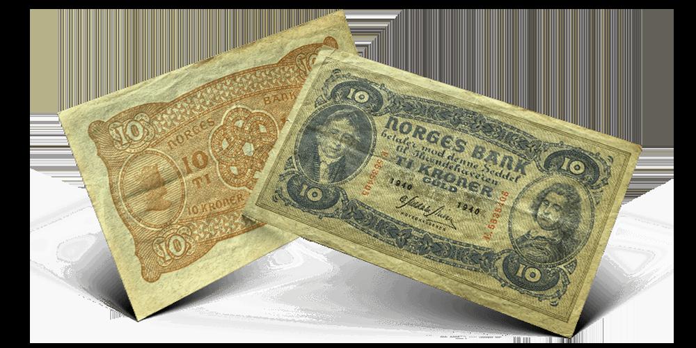 Norges første helnorske 10-kronerseddel