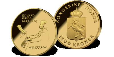 1500 kr Edvard Grieg 1993 i skrin