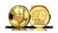 Hundreårsmynten i gull 2004