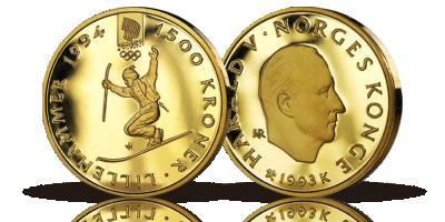 1500 kr OL Telemarkkjører 1993