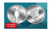 UEFA euro 2020 sølvmynt