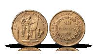 20 Franc gullmynt Engel