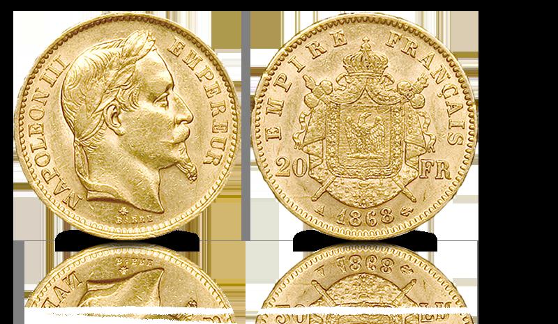 Sjelden original gullmynt fra Napoleon III