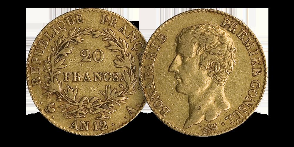 Napoleons aller første 20 franc i gull