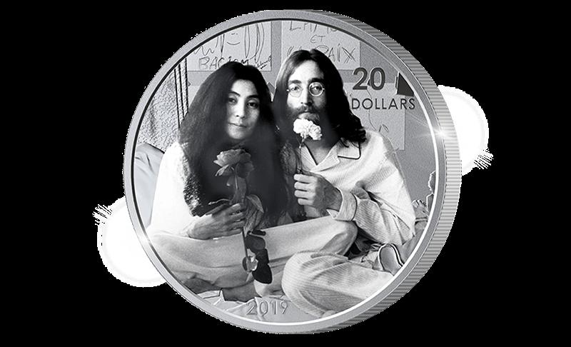 Offisiell Yoko Ono og John Lennon sølvmynt