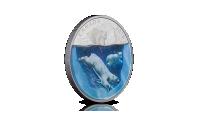 Isbjørn 3D fargepreg proof sølvmynt