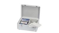 Koffert i aluminium-look str XL