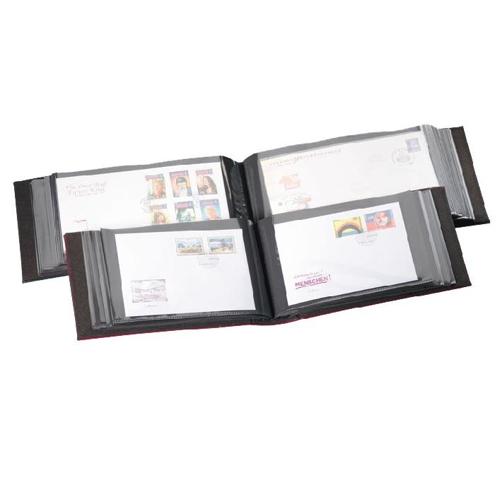 Burgunder album for minnebrev og postkort