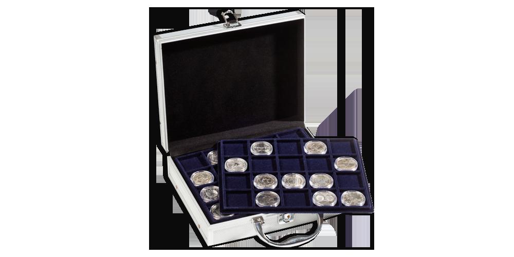 Praktisk myntkoffert str. S