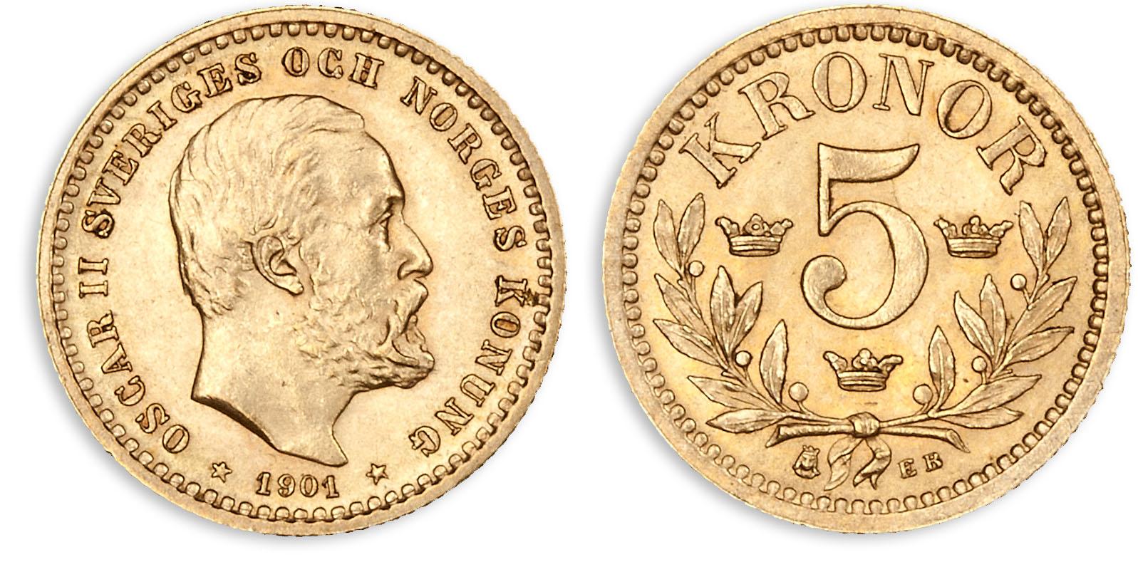 100 år gammel originalmynt fra unionstiden