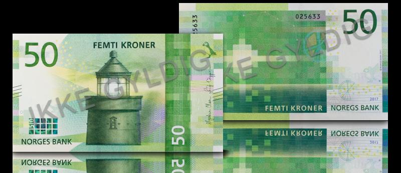 Veksle 50 kroner for 50 kroner
