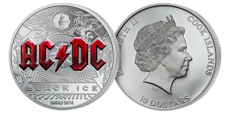 AC/DCs Black Ice hylles på minnemynt i sølv!