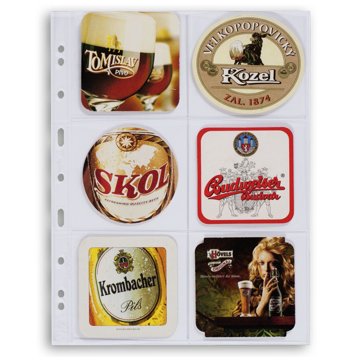 Ølbrikkealbum med plass til 90 ølbrikker