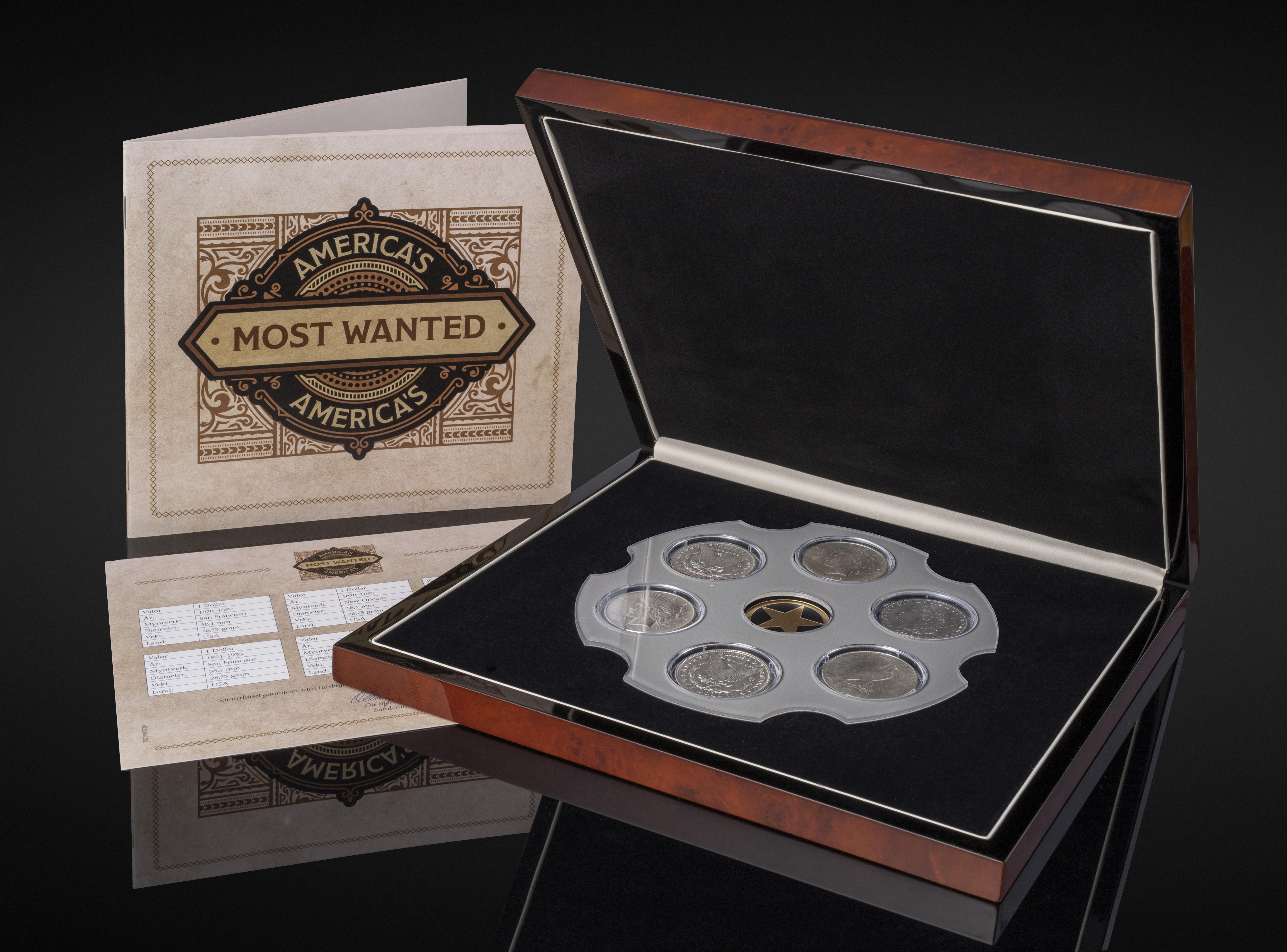 Most Wanted myntsettet med gjenspeil