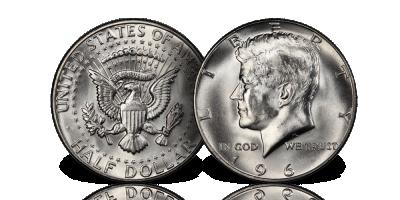 John F. Kennedy - gratis halvdollar!