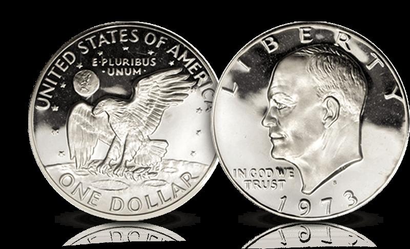 Sikre deg den berømte Eisenhower-dollaren der den amerikanske ørnen lander på månen!