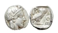 Athen tetradrakme uglemynt