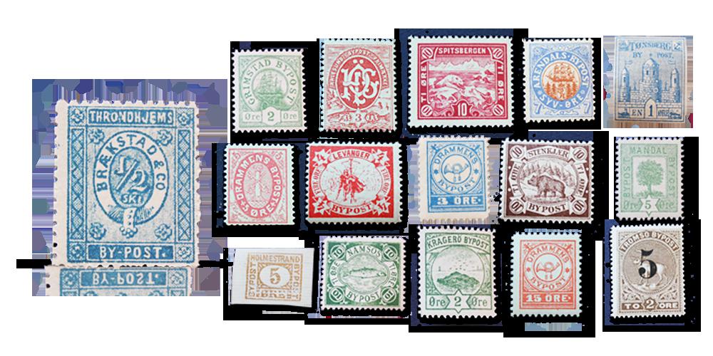 Bypost frimerker
