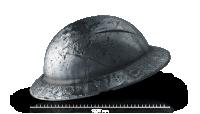 Sølvmynt formet som en hjelm