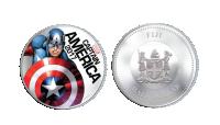 Captain America Marvel minnemynt med innebygget lys