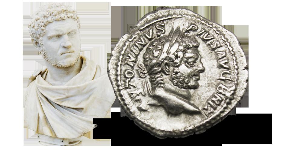 Caracalla denarius 212-213 e.Kr.