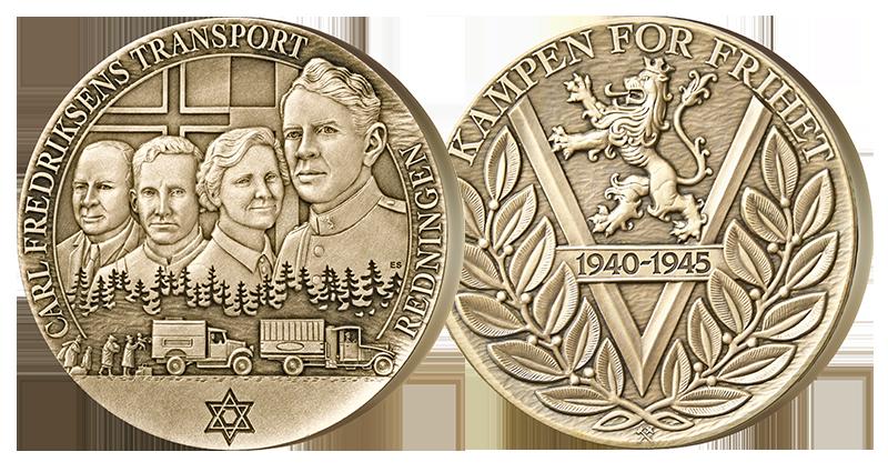 Bronsemedalje hedrer Carl Fredriksen transport
