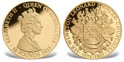 Churchill 1874-1965,Gibraltar 10£ Gull 2015 (copy)